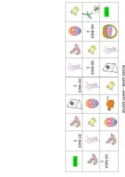 English Worksheet: Easter board game