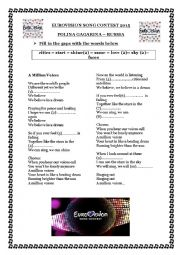 English Worksheet: Eurovision Song contest 2015 - Russia - A million voices