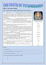 English Worksheet: MUMMIES - KING TUT