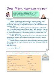 English Worksheet: Problem page debate