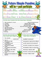 English Worksheet: Future Simple Passive