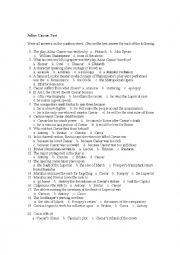 English Worksheet: julius caesar