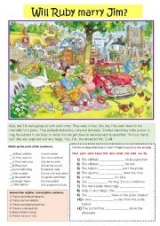 English Worksheet: Picnic Scene