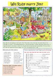 English Worksheet: Picnic Scene