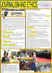 English Worksheet: Journalism and ethics