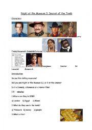 English Worksheet: Movie worksheet: Night at the museum 3
