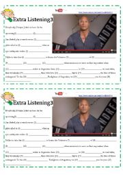 English Worksheet: Dwayne Johnson- The Rock