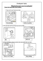 English Worksheet: Earthquake