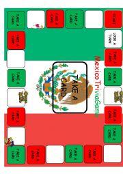 English Worksheet: Mexico Trivia Game
