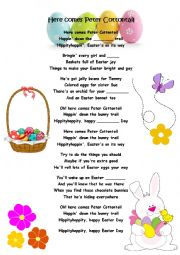 Easter song: Here comes Peter Cottontail