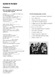 English Worksheet: Patience Guns´n Roses