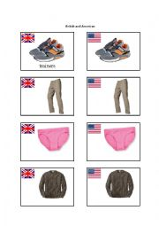 British and American English Clothing