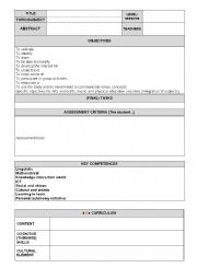 English Worksheet: CLIL tasks