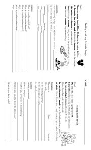 English Worksheet: Guided writing 2