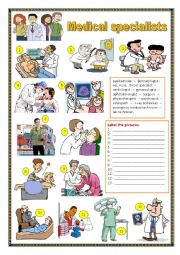 English Worksheet: Medical specialists.