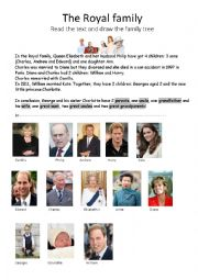Royal Reduced family tree for Georges and Charlotte