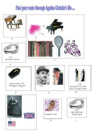 English Worksheet: Telling about Agatha Christie�s life