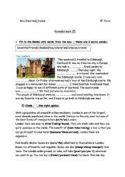 English Worksheet: remedial work