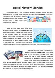 English Worksheet: Debate Topic_Social Network Service