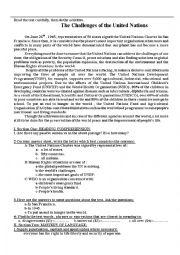 english worksheets united nations worksheets. Black Bedroom Furniture Sets. Home Design Ideas