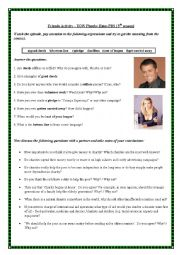 English Worksheet: Friends and Charity