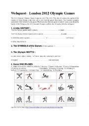 English Worksheet: Webquest  London 2012 Olympic games
