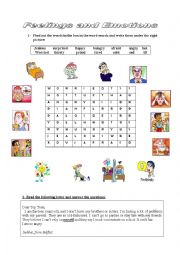 English Worksheet: Family Relationships/ Feelings and Emotions