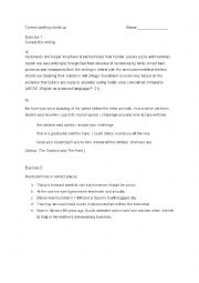 English Worksheet: Correct writing: Capital letters, using comma and detecting spelling errors