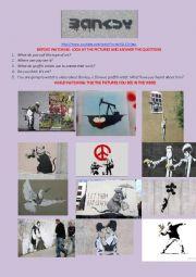 English worksheet: Banksy: Art or Vandalism? Video
