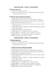 English Worksheet: A NIGHT AT THE MUSEUM 3