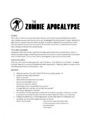 the zombie apocalypse - ESL worksheet by vannam3011