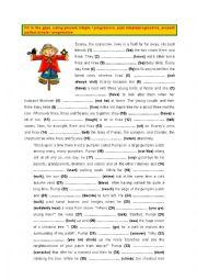 English Worksheet: Present, Past & Present perfect - Simple & Progressive (5)