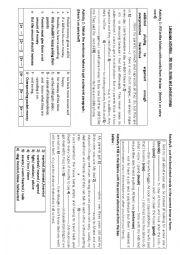 English Worksheet: Language activities : family matters and pocket money