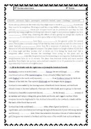 English Worksheet: 4th forms exercises