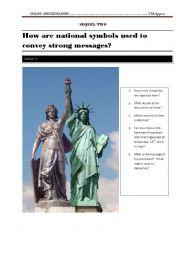 English Worksheet: how are national symbols used