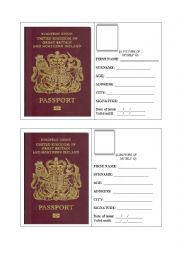 UK PASSPORT application form