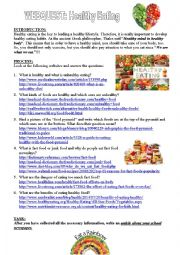Webquest: Healthy Eating