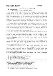 English worksheet: Third Year Exam accoring to the Algerian syllabus