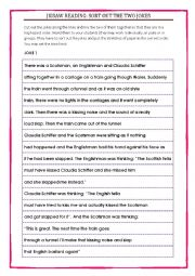 English Worksheet: Jigsaw reading