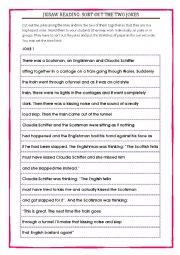 English Worksheet: Jigsaw reading