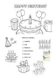english worksheets happy birthday. Black Bedroom Furniture Sets. Home Design Ideas