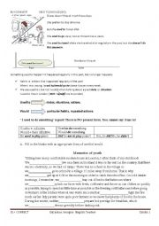 English Worksheet: Grammar: used to vs would