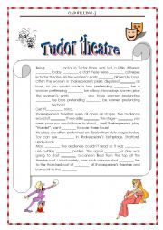 English Worksheet: GAP FILLING TUDOR THEATRE