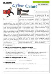 English Worksheet: Cyber Crimes