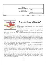 Are we walking billboards?