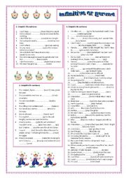 Gerund worksheets with answer key