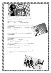 English Worksheet: Bad David Guetta