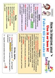 English Worksheet: How to improve your English - a practical guide (2 pages)