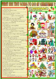 English Worksheet: What  are they going to do at Christmas ?2