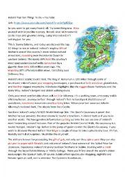 English Worksheet: Ireland:Ten Top Things To Do